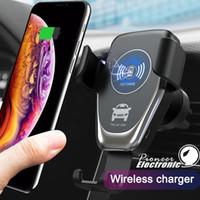 universalgerät ladegerät großhandel-C12 Wireless Car Charger 10 Watt Schnelle Wireless Ladegerät Auto Mount Air Vent Gravity Handyhalter Kompatibel für iPhone Samsung alle Qi-Geräte