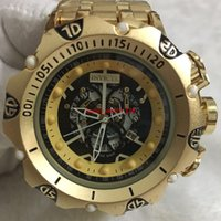 Wholesale strap for sell resale online - 9A good quality men invicta GOLD watches stainless steel strap Mens Watches Quartz Wristwatches relogies for men relojes Best Gift Hot Sell