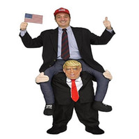 Wholesale mes clothing online - Donald Trump Pants Party Dress Up Ride On Me Costumes Carry Back Novelty Toys Halloween Party Fun Cosplay Clothes CCA10821