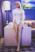 ingrosso basamento della bambola del silicone-Bambola reale 145 centimetri full size bambola del sesso pelle abbronzata parrucca bionda piedi in piedi bambola di amore in silicone per l'uomo