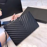 bolsa de marca qualidade couro real venda por atacado-Atacado 5A qualidade de luxo designer bolsas de grife sacos de embreagem de moda real designer de bolsa de couro carteira mulheres saco com caixa