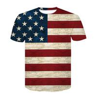 sexy amerikanische flagge großhandel-Devin Du USA Flagge T-shirt Männer / Frauen Sexy 3d T-shirt Druck Gestreifte Amerikanische Flagge Männer T-shirt Sommer Tops Tees Plus 3XL 4XL