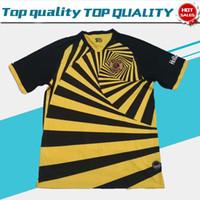 camisa de futebol preto amarelo venda por atacado-2019 Kaizer Chiefs Casa de Futebol Jersey África do Sul Liga de Futebol Clube Camisa 19/20 de Futebol adulto Amarelo Preto uniforme em vendas