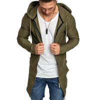 Men's Autumn Winter Warm Thin Jackets Cardigan Coats Long Sleeve Hooded Coat Zip Up Sports Hoodie Jacket Overwear