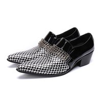 Formal Shoes Efficient Mens Shoes High Heels Luxury Brand Patent Genuine Leather Crocodile Skin Gingham Dress Wedding Party Formal Shoes Men Size47 Durable In Use