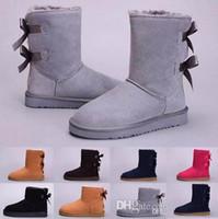 yetişkin yay toptan satış-Tüp kar botları pamuk ayakkabı GAZELLE Hot satmak çocuklar yetişkin EU25-43 Avustralya kar botları kalın deri yay