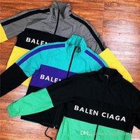 lenços da escola venda por atacado-19ss primavera nova marca de luxo design cor bloqueado BB old school jaqueta mulheres homens Casual camisolas Streetwear Hoodies ao ar livre jaquetas