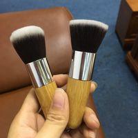 Wholesale professional makeup tools cosmetic online - 1PCS Professional Makeup Brushes Bamboo Handle Powder Concealer Liquid Foundation Makeup Tools Beauty Cosmetics Brusher Brush