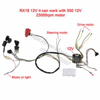 Wholesale diy solar car kit resale online - Children Electric Car Diy Modified Wires And Switch Kit with g Bluetooth Remote Control Self made Baby Electric Car v J190719