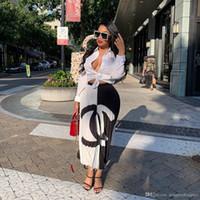 etek çiçek toptan satış-Bayan Yaz Tasarımcı Uzun Etekler Çiçek Baskı Siyah Beyaz Moda Stil Kadın Giyim Seksi Rahat Giyim