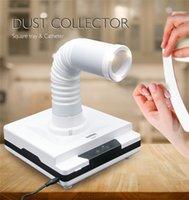 enchufe ajustable al por mayor-Tamax ND001 60W Máquina colectora de succión al vacío de polvo de clavo Telescópica ajustable para salón de uñas Aspiradora 4500 rpm Equipo de arte de uñas