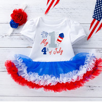 Wholesale tutu happy for sale - Group buy 2019 Happy Baby Infants th of July Tutu Skirt Onesie Headband set Independence Day Hotsale New arrival