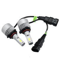 ingrosso h3 ha condotto la lampadina super luminosa-H7 LED H4 H1 H3 H11 9005 9006 Lampadine per fari 36W 8000Lm IP65 COB Super Bright S2 LED Kit fari luce automatica