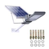 12v led bahçe spot ışıkları toptan satış-LED Güneş Sel ışık, Açık Güvenlik Duvar Işıkları Su Geçirmez Uzaktan Kumandalı Güneş Spotlight Bahçe, veranda, Yard, Havuz, Garaj