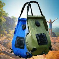 saco de banho ao ar livre venda por atacado-banho Solar saco de energia auto-drive acampamento ao ar livre saco de água quente portátil ao ar livre banho de sol saco de armazenamento de água 20L ZZA251-1