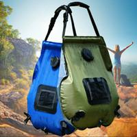 ingrosso borsa da bagno all'aperto-Solar bag bagno di energia esterna di campeggio esterna portatile di custodia acqua bagno di sole sacchetto di acqua calda 20L ZZA251-1 self-drive