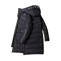 homens korean jaquetas longas venda por atacado-2018 Fahsion Coreano Homens Jaqueta de Inverno Homens Longo Grosso Parkas Mens Casaco Quente Masculino Casaco Casual Com Capuz 3XL 4XL de Alta Qualidade