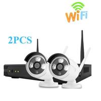 4channel drahtlose kamera-kits großhandel-Drahtlose Überwachungskamera-System 4CH NVR Kit 1080P HD IP-Kamera im Freien wasserdichte Wifi-Überwachungskamera