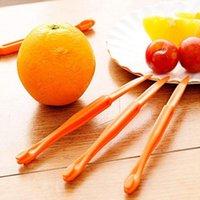 Wholesale skin peeler resale online - 15cm Long section Orange or Citrus Peeler Fruit Zesters Stripper orange device skinning knife Citrus Opener fruit tools YYA57