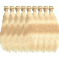 18 zoll brasilianische weblänge großhandel-613 Blonde Menschenhaar 100% 1 STÜCKE Honig Blonde Bundles Weave 100% Menschenhaareinschlagfäden