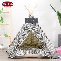 Wholesale tent beds for dogs resale online - 2019 New Cotton Pet Cushion Washable Tent Shape Dog Bed Tent Kennel Pet Removable Cozy House For Puppy Dogs Cat Small Animals