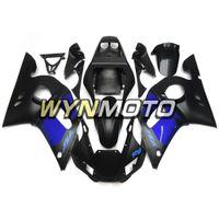 kit de carenado yamaha r6 azul al por mayor-Kit de carenado de motocicleta para Yamaha YZF-600 R6 Año 1998 99 00 01 2002 Kit completo de carenado Nuevo plástico mate azul negro Kit de cubierta