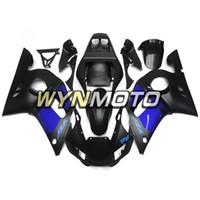 motorcycle fairing r6 1999 großhandel-Motorrad Verkleidungsset Für Yamaha YZF-600 R6 Baujahr 1998 99 00 01 2002 Komplettes Verkleidungsset Nagelneu Kunststoff Matt Schwarz Blau Verkleidungsset