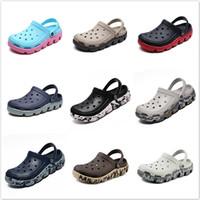 zapatillas de masaje al por mayor-Zapatos de jardín de Aqua estorba el masaje Chancletas verano de los hombres de Croc Terlik Sandalias Gladiador Sandalias Zapatos De Hombre