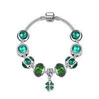 ingrosso perline di vetro grandi fori-Gioielli di design di lusso da donna bracciali con perline Piccolo braccialetto a quadrifoglio fresco boutique fai da te grande foro perline braccialetto di perline di vetro
