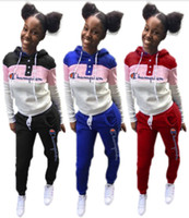 Wholesale outfits sets outwear for sale - Group buy Champions women piece set fall winter brand tracksuit hoodies pants sweatsuit tee top leggings outfits outwear bodysuits hot selling