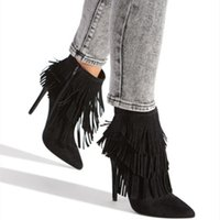 Wholesale boot lace covers for sale - Group buy Goddess2019 Fine Toe Tassels With Temperament White Woman Cool Boots Grace Black Go Show Night Store Sandals