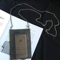 ingrosso borse di monete del rhinestone-Borsa della moneta della borsa del telefono cellulare di progettazione del modello di moda per la borsa di Sholder del cristallo di Rhinestone di Bling delle ragazze delle donne Nuovo arrivo