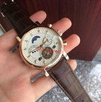 кожаные наручные часы для мужчин оптовых-2019 Новая мода швейцарские часы кожа Tourbillon Часы Автоматические Мужские наручные часы Мужские механические часы стали Relogio часы Мужчина для