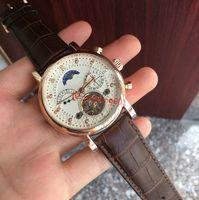 Wholesale luxury swiss mechanical watch resale online - New Fashion Swiss Watch leather Tourbillon Watch Automatic Men Wristwatch Men Mechanical steel Watches relogio masculino clock