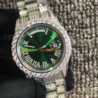 ingrosso eta 2836 automatico-Orologio Full Diamond Iced out Orologio Best ETA 2836 Automatic 41MM Mens Hip-Hop impermeabile Acciaio inossidabile 316 Set Big Diamond 8 colori