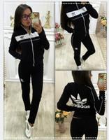 Wholesale motorcycle racing costume resale online - XXL adidas Women Sport Suits Printed Fall Tracksuits Long sleeve Casual Sportwear Costumes Piece clothing set Hoodies Sweatshirt