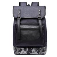 gri dizüstü bilgisayarlar toptan satış-Dayanıklı oxford erkekler sırt çantası rahat dizüstü okul taşıma çantası seyahat bagaj adam omuz çantası koyu gri