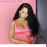 Wholesale curly red synthetic wigs resale online - 13x4 Lace Front wigs Curly Lace wigs simulation Human Hair Pre Plucked synthetic wigs deep wave wigss For Women Baby Hai hairs