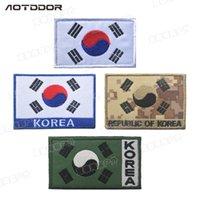 южный флаг оптовых-Флаг Кореи Флаг Мораль Патч Флаг Южной Кореи Тактический Знак Вышитые Полосы Патч Одежды Для Курток