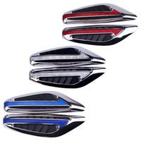 Wholesale car side blades resale online - Steering light Fender Side Lamp Hot Sale DC12V Blade Shape Auto Car LED Side Lights Marker Turn signal Lights