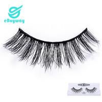 Wholesale korean fake lashes for sale - Group buy 3D mink eyelashes make up Korean PBT Fiber Full Strip Eyelashes D False Eyelashes For Party D Fake Lashes