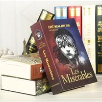 yüksek saklı toptan satış-Yüksek Kaliteli Gizli Kitap Gizli Güvenlik Kasa Para Jewlery Güvenli Tuş Kilidi Metal Simülasyon Klasik Kitap Stil 222 * 152 * 45mm