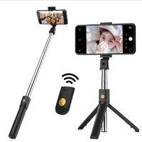 pinte o desktop venda por atacado-K07 Sem Fio Bluetooth Tripé Stand Selfie Vara Monopé Para IOS Android Telefone Inteligente Desktop Tripé Titular Mini Selfie Vara