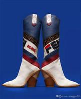 новые длинные туфли оптовых-Toe Модный дизайнер Странные Высокие каблуки из натуральной кожи Женская обувь Новые сапоги осень-зима Взлетно-посадочные полосы Длинные сапоги женщина