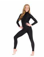ingrosso maniche lunghe maniche corte-Maniche lunghe collo maniche lunghe Unitard Dolcevita nero Ginnastica Unitard Dancewear Body completo Lycra Spandex Body Plus Size