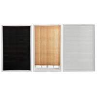 stoffschatten für schlafzimmer großhandel-Soft Bedroom Blackout Curtains Kabellose Lichtfilterung Plissee Fabric Shade Einfach zu schneiden und zu installieren