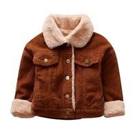 Wholesale kids yellow winter jacket resale online - Kids Baby Girls Boys Winter Solid Coat Cloak Jacket Thick Warm Outerwear Autumn Winner Clothes