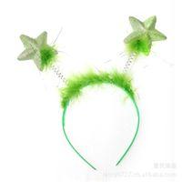 Wholesale stylish headband hair for sale - Little Princess Party Favor Colorful Star Ears Headwear Lovely Children Stylish Headband Hair Hoop Carnival wh E1