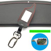 caso para controles de carro venda por atacado-M5 Keychain caso capa para alarme russo Scher-Khan Magicar 5 2-Way Car LCD Controle Remoto / Scher Khan M5 M902F / M903F Key Fob