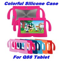 Wholesale tablet pc android china for sale - Group buy Kids Soft Colorful Silicone Rubber Gel Case Cover For Q88 A13 A23 A33 Q8 Android Tablet PC